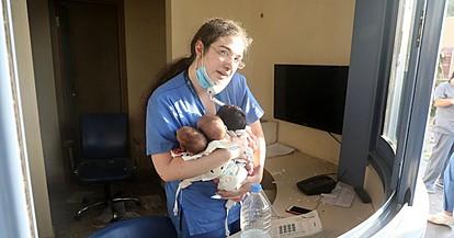 Секој на мое место би го направил истото, вели докторката херој која спаси новороденчиња од експлозијата во Бејрут