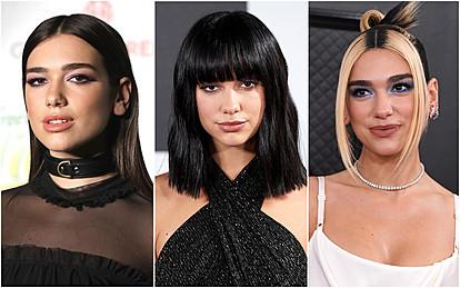 Еволуцијата на фризурите на Дуа Липа