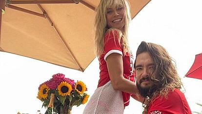 Хајди Клум ја прослави титулата на Баерн Минхен во црвено бикини