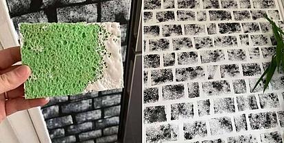 Креативна мајка со помош на обичен сунѓер создава ѕидни креации што мамат воздишки