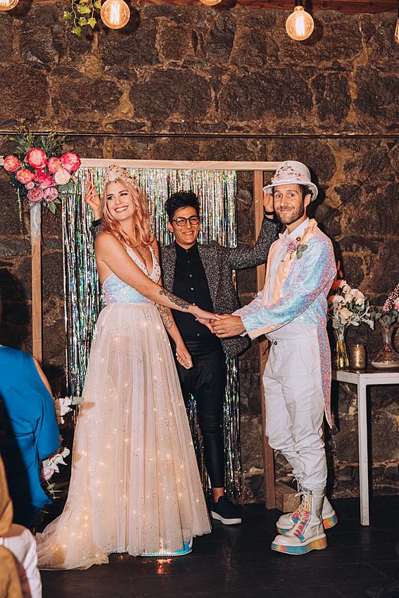Rock n Roll Bride wedding