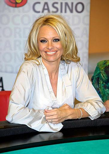 Pamela Anderson gambling