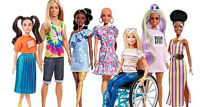 Нова колекција Барби кукли со протеза, без коса и со витилиго