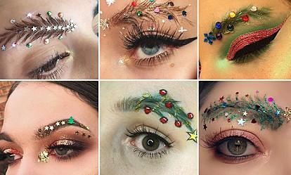 Празничен тренд: Веѓи како новогодишни елки